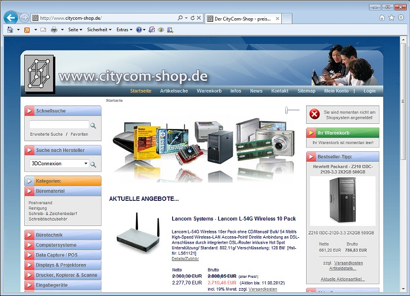 CityCom-Software - Webdesign - Referenz